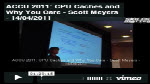 Video of CPU Caches and Why You Care